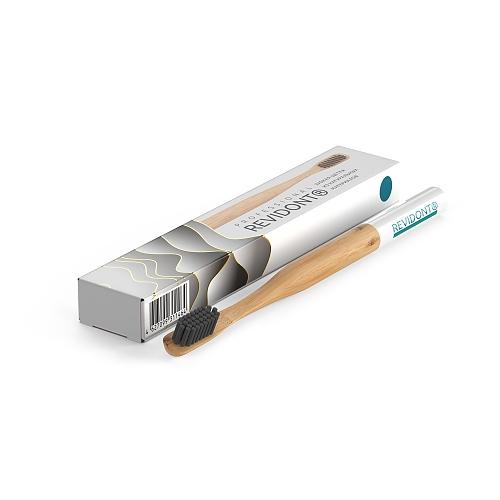 Зубная щетка из бамбука Revidont (синяя)