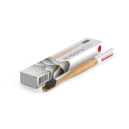 Зубная щетка из бамбука Revidont (красная)